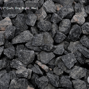 BLACK GRANITE - DECORATIVE STONE - 18KG BAGS ONLY