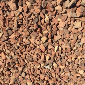 "3/4"" RED BRICK - DECORATIVE STONE -"