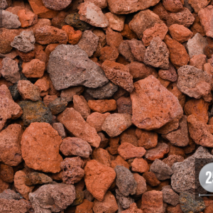 RED LAVA - DECORATIVE STONE -