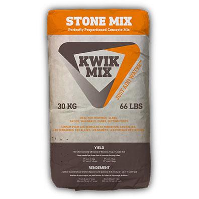 KWIK MIX STONE MIX - CEMENT PRODUCTS -